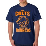 All Colts Grow Up To Be Broncos Manning Navy Adult T-Shirt Tee